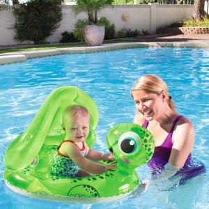 $1.99 好价反季囤白菜价:H2OGO! 防紫外线遮阳 小乌龟造型婴儿泳圈