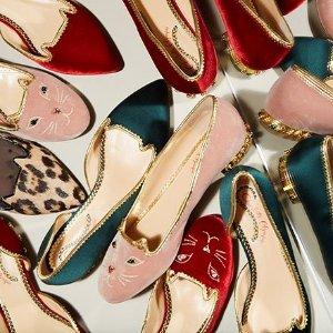 低至5折 收可爱猫咪、新款羽毛Charlotte Olympia官网 网络周大促 美鞋、包包热卖