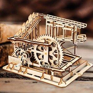 Amazon ROBOTIME 3D Wooden Craft Kits Brain Teaser Games Mechanical Gears Set