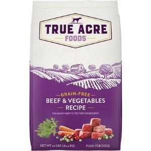 True Acre FoodsBeef & Vegetable Recipe Grain-Free Dry Dog Food, 40-lb bag - Chewy.com