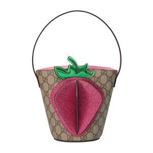小草莓水桶包