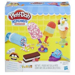 $9.98(原价$17.99)Play-Doh  冰淇淋橡皮彩泥套装 随时断货