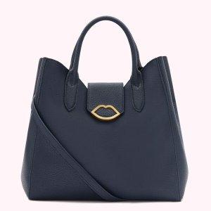 Lulu GuinnessLuella 藏蓝手提包