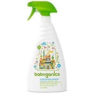 Babyganics Multi Surface Cleaner, 32oz Spray Bottle (Pack of 3)