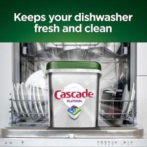 $17.97(原价$22.49) 每次$0.24Cascade 洗碗机洗涤剂75颗 专业强力清洁 清新香味亮白如新