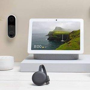 $298(原价$428)Google Nest Hello 门铃+Nest Hub套装 居家安全好助手