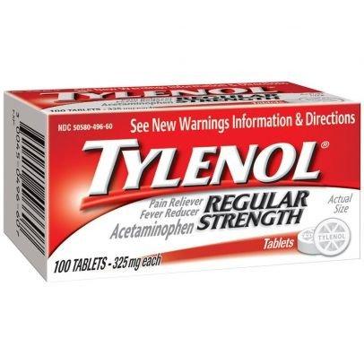 泰诺退烧止疼片 100粒