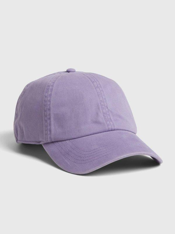 香芋紫棒球帽