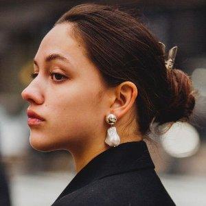 部分4.5折起 $9起 不输大牌质感Simons 平价时髦的仙女耳钉热卖 收巴洛克珍珠耳环