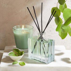 7.5折 + 送玫瑰乌木蜡烛Nest 香氛热卖 收薄荷尤加利、苹果花蜡烛、琥珀扩香