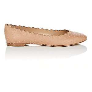 ChloeLauren Studded Leather Flat