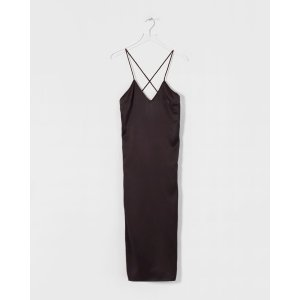 Le MerceauAubergine V-Neck Silk Slip Dress