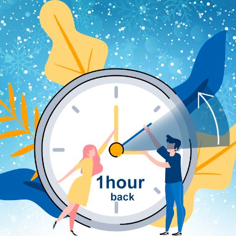 本周日10月25日多睡1小时2020夏令时要结束啦 闹钟回拨1小时 可能是最后一个冬令时哦