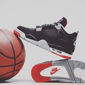 5月4日多伦多下午1点 来配亲子鞋新品预告:Air Jordan 4 Bred 经典复刻 小朋友到大人全尺码发售