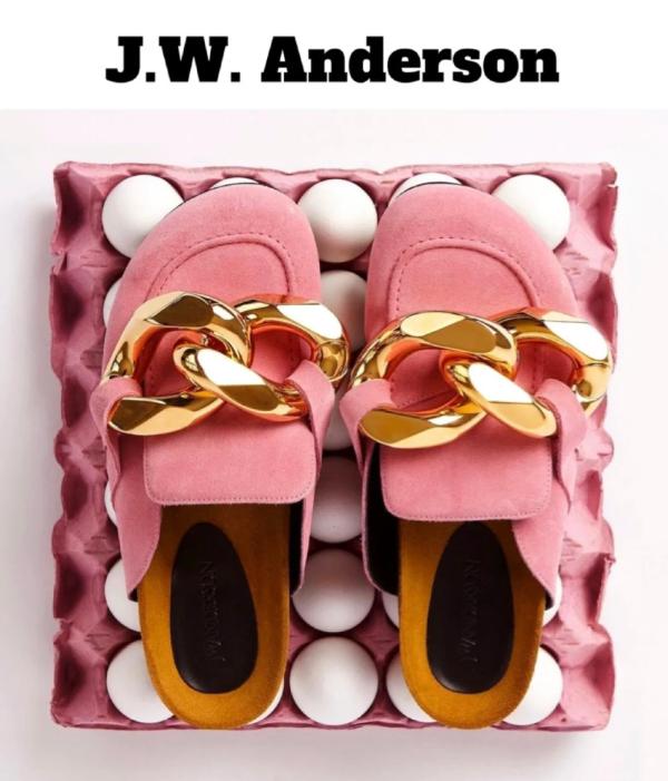粗金链乐福鞋
