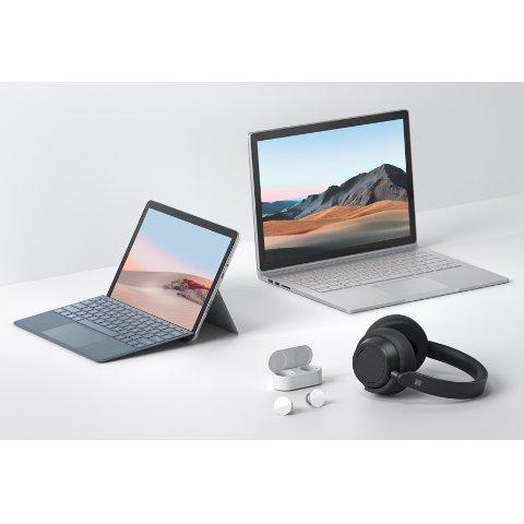 加量不加价微软更新Surface全家桶:Book 3, Go 2, Headphones 2和Earbuds