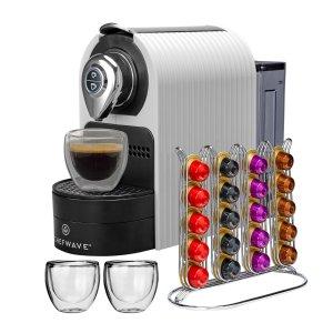 $69.95 送40颗胶囊咖啡+杯子2个ChefWave 迷你Nespresso浓缩咖啡胶囊咖啡机 红白黑三色可选