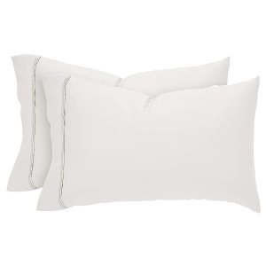 $9.61Stone & Beam HygroCotton Sateen Pillowcase Set, Easy Care, Standard, White
