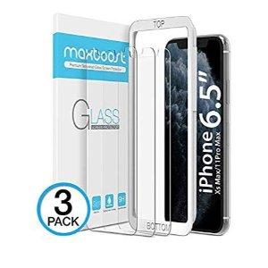 Maxboost iPhone 11 Pro Max/Xs Max 屏幕保护膜 3片装
