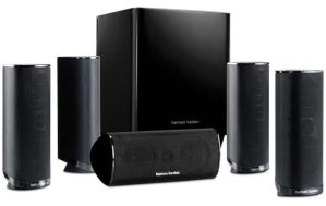 Refurbished Harman Kardon HKTS 16 5.1 Channel Home Theater Surround Sound Speakers black