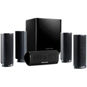 Refurbished Harman Kardon HKTS 16 5.1 Channel Home Theater Surround Sound Speakers black