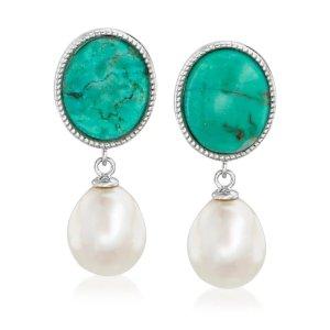 Ross-Simons复古绿松石珍珠耳环