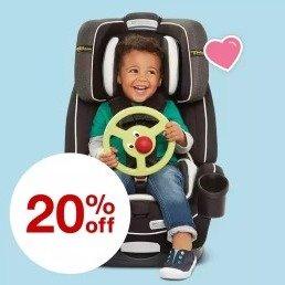 $15.99起 收Graco 费雪Target 精选童车、安全座椅等额外8折热卖