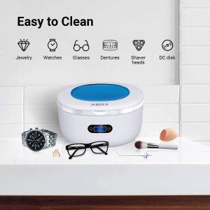 折后仅€35.99 全方位清洁ABOX 迷你超声波清洗机 微气泡高效清洁 带计时器