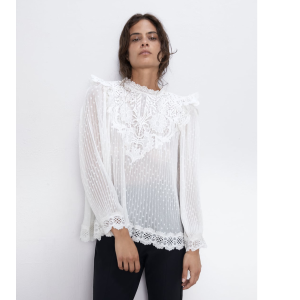 EMBROIDERED BLOUSE - NEW IN-WOMAN | ZARA United States