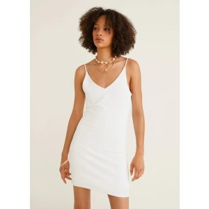 MangoRibbed jersey dress - Women | OUTLET USA