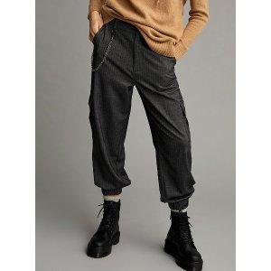 Twik满$175立减$25链条宽松束脚裤