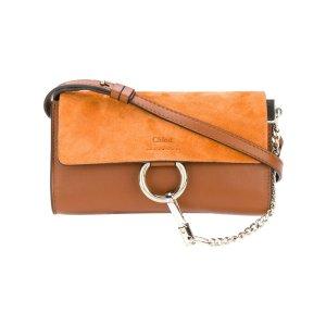 ChloeTobacco Faye chain wallet Bag