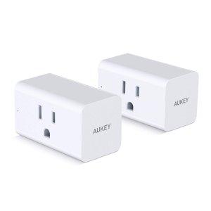 $27.99(原价$39.99)AUKEY Wi-Fi 智能插座 2个