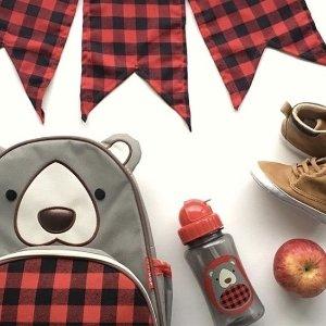 5折包邮 书包$10Skip Hop 冬季限定款儿童书包、餐具促销