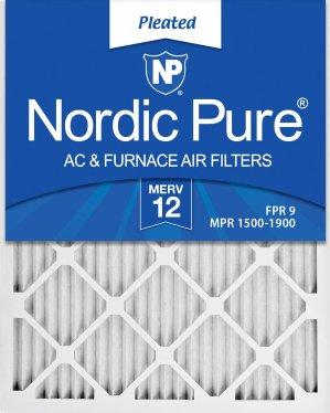 $53.06 (原价$90.94) 呼吸干净空气Nordic Pure 16x25x1 MERV12 空气过滤网6个装