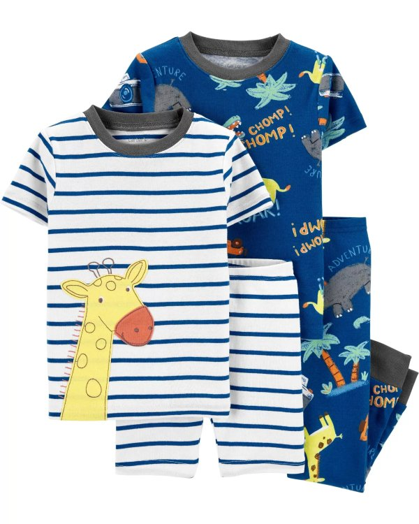 小童紧身全棉睡衣4件套