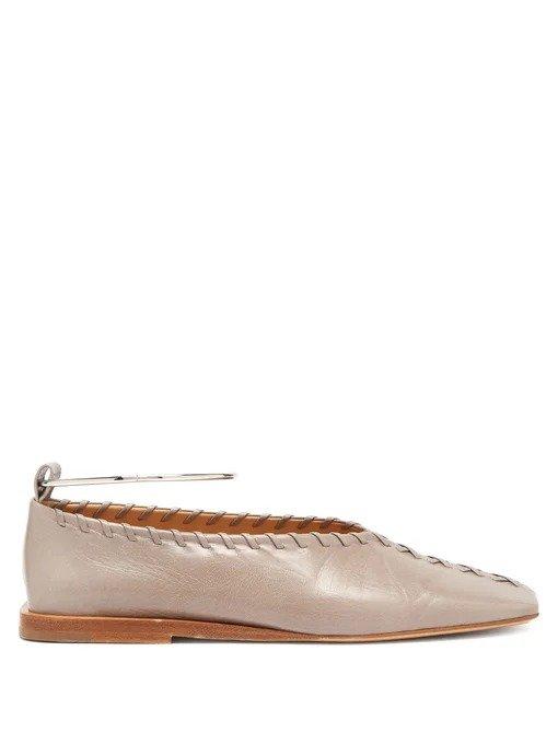 圆环平底芭蕾鞋