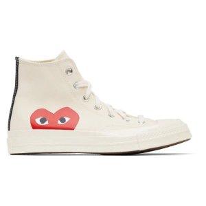 Comme des Garcons Play35/36/37.5,原定价$200匡威合作款 高帮帆布鞋