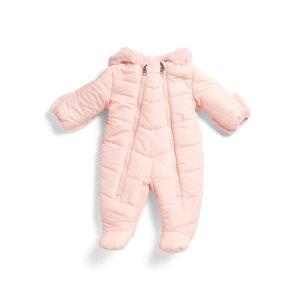 Newborn Girls Puffer Pram Snowsuit