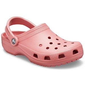 Crocs粉色洞洞鞋