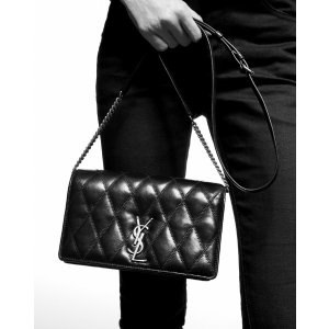 Saint LaurentANGIE chain bag in quilted lambskin
