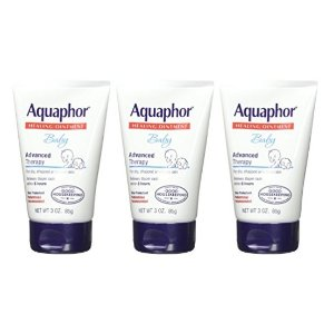 $8Aquaphor Baby Advanced Therapy Healing Ointment Skin Protectant 3 Ounce Tube (Pack of 3)