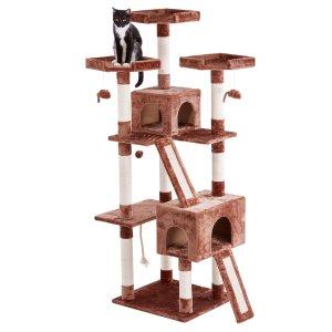 $36.55(原价$79.98)Frisco 72吋猫爬架 2猫窝