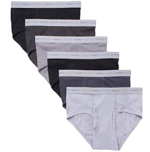 销量冠军$9.99(原价$16.99)Hanes 男士纯棉中腰内裤6件套