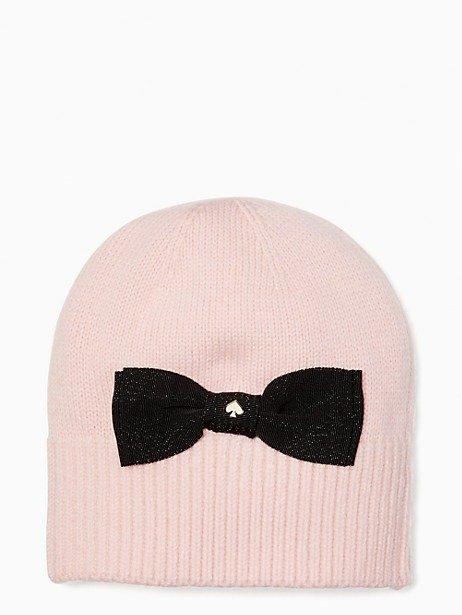 蝴蝶结针织帽