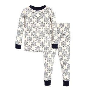 Arctic Snowflakes Organic Toddler Holiday Matching Pajamas