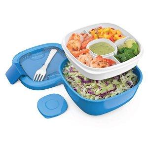 $14.99(原价$29.99)Bentgo 儿童双层密封午餐饭盒,配沙拉碗