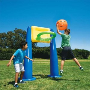 $10 + Free ShippingBig Play Sports Jumbo Inflatable Pool Basketball Hoop Set