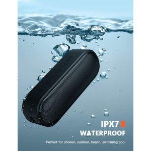 $33.14(原价$38.99)史低价:LENRUE  防水便携蓝牙音箱 IPX7防水等级 浴室歌神必备