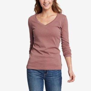 Eddie BauerFavorite Long-Sleeve V-Neck T-Shirt
